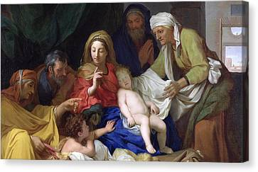 The Sleeping Christ Canvas Print by Charles Le Brun