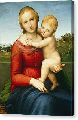 The Small Cowper Madonna Canvas Print by Raphael