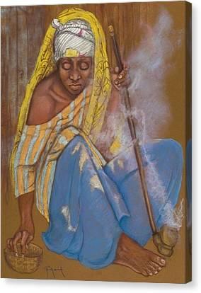 The Smoker Canvas Print by Pamela Mccabe