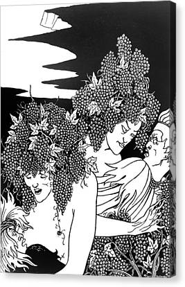 The Snare Of Vintage Canvas Print by Aubrey Beardsley