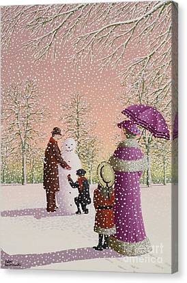 The Snowman Canvas Print by Peter Szumowski
