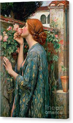 The Soul Of The Rose Canvas Print by John William Waterhouse