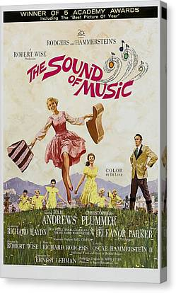 The Sound Of Music, Poster Art, Julie Canvas Print by Everett