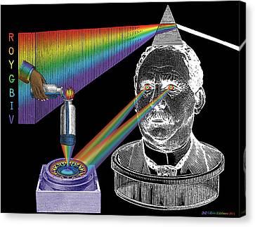 The Spectre Of Chromatopia Canvas Print by Eric Edelman