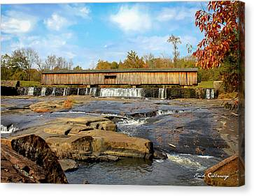 The Square Dance Venue Watson Mill Covered Bridge Canvas Print by Reid Callaway