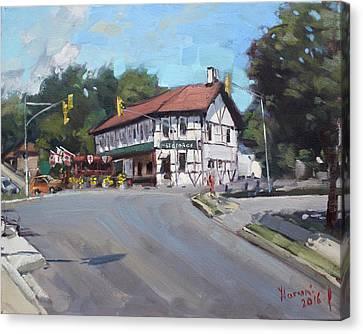 The St George Pub Canvas Print by Ylli Haruni