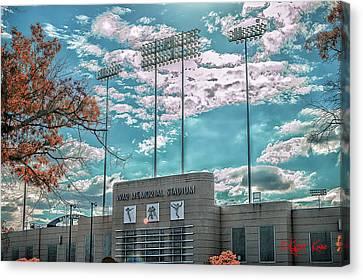 The Stadium Canvas Print by Kyzer Kane