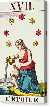 The Star  Tarot Card Canvas Print by French School
