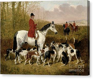 The Start  Canvas Print by John Frederick Herring Snr