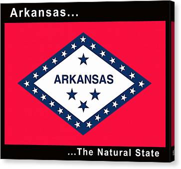 The State Flag Of Arkansas Canvas Print by Floyd Snyder