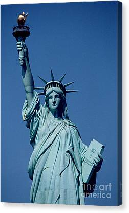 The Statue Of Liberty Canvas Print by American School