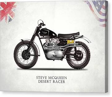The Steve Mcqueen Desert Racer Canvas Print by Mark Rogan