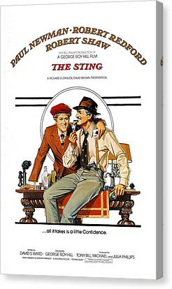 The Sting, The, Robert Redford, Paul Canvas Print by Everett