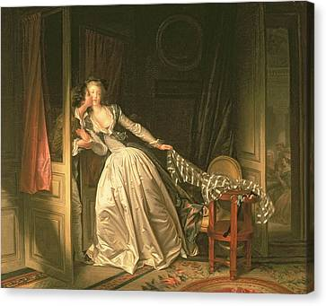 The Stolen Kiss Canvas Print by Jean-Honore Fragonard