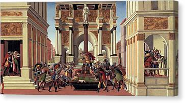 The Story Of Lucretia Canvas Print by Sandro Botticelli