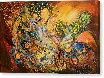 The Story Of The Orange Garden Canvas Print by Elena Kotliarker