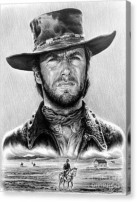 The Stranger Bw 1 Version Canvas Print by Andrew Read