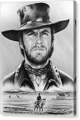 The Stranger Bw 2 Version Canvas Print by Andrew Read