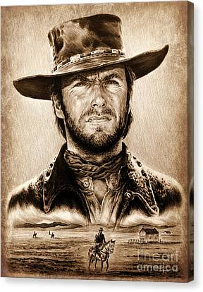 The Stranger Ye Old Wild West Edit Canvas Print by Andrew Read