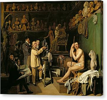 The Studio Of Jean Antoine Houdon Canvas Print by Louis Leopold Boilly