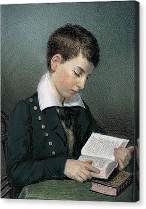 The Studious Youth. Master Edward Appleton Canvas Print by Sarah Goodridge