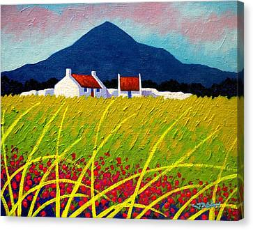 The Sugar Loaf County Wicklow Canvas Print by John  Nolan