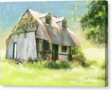 The Summer Cottage Canvas Print by Lois Bryan