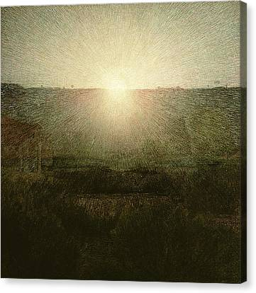 The Sun Canvas Print by Giuseppe Pellizza da Volpedo
