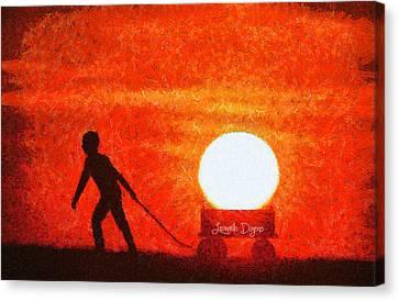 The Sun Mover - Da Canvas Print by Leonardo Digenio