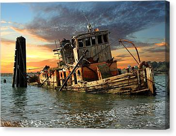 The Sunset Years Of The Mary D. Hume Canvas Print by James Eddy