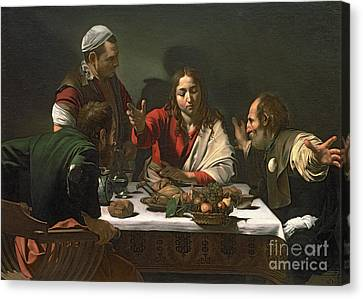 The Supper At Emmaus Canvas Print by Caravaggio