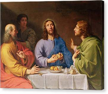 The Supper At Emmaus Canvas Print by Philippe de Champaigne