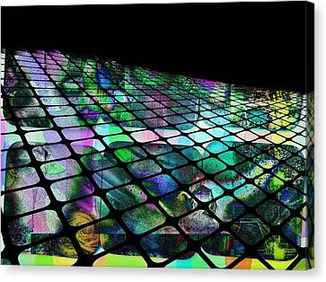 The Surface Of Color Canvas Print by Contemporary Art