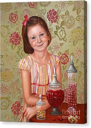 The Sweet Sneak Canvas Print by Enzie Shahmiri