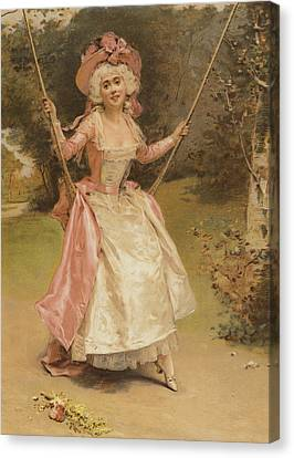 The Swing Canvas Print by English School
