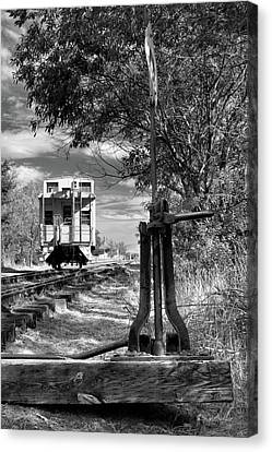 The Switch And The Caboose Canvas Print by James Eddy