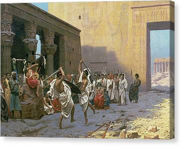The Sword Dance Canvas Print by Jean Leon Gerome
