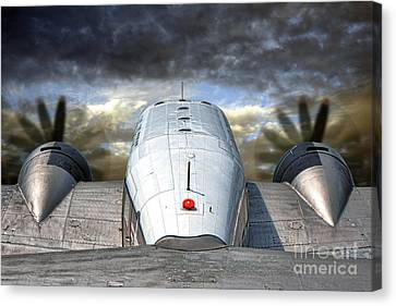 The Takeoff Canvas Print by Olivier Le Queinec
