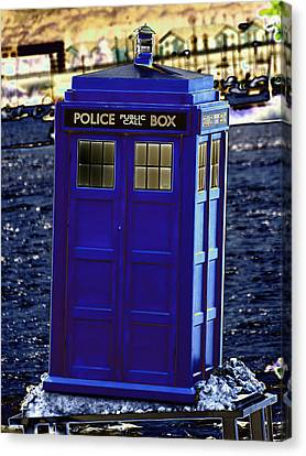 The Tardis Canvas Print by Steve Purnell