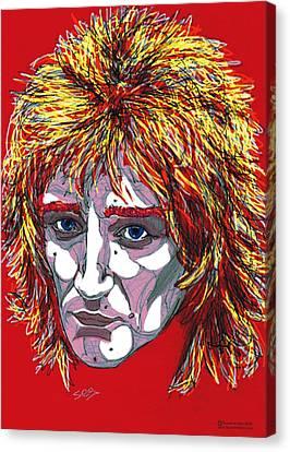 The Tartan Of Rod Stewart Canvas Print by Suzanne Gee