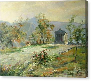 The Temple Of Garni Canvas Print by Tigran Ghulyan