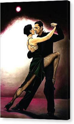 The Temptation Of Tango Canvas Print by Richard Young
