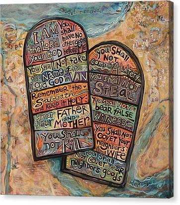 The Ten Commandments Canvas Print by Jen Norton