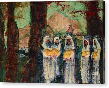 The Ten Virgins Canvas Print by Debi Bond