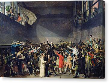 The Tennis Court Oath Canvas Print by Jacques Louis David
