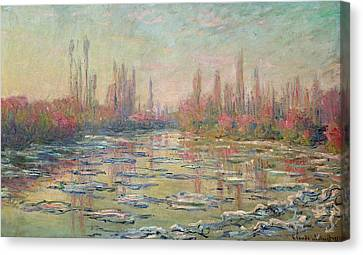 The Thaw On The Seine Canvas Print by Claude Monet