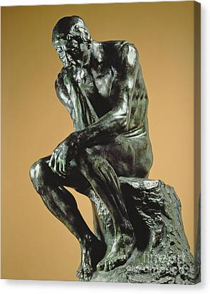 The Thinker Canvas Print by Auguste Rodin