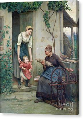 The Three Ages Canvas Print by Jules Scalbert