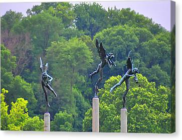 The Three Angels Canvas Print by Bill Cannon