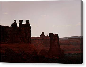 The Three Gossips Arches National Park Utah Canvas Print by Christine Till
